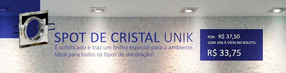 Spot de Embutir Cristal Quadrado 745 MR16 da Unik