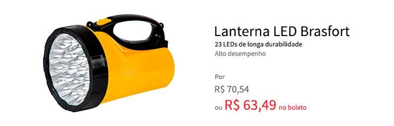 Lanterna LED Recarregável 23L da Brasfort