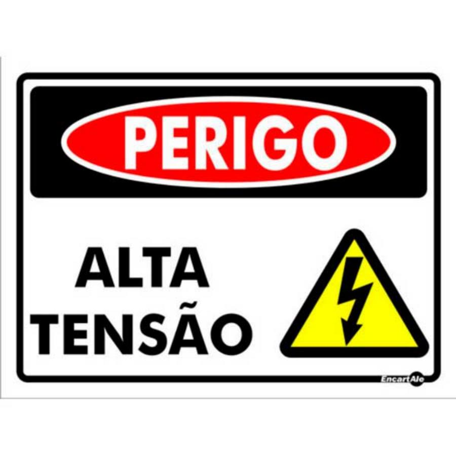 b2e49681a41 Placa - Alta Tensão 15x20 PS128 Encartale - LIgação Home Center