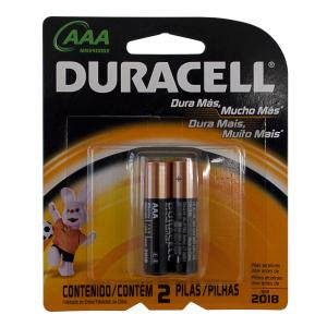 Pilha Alcalina Palito AAA - 2 Pc - Duracell