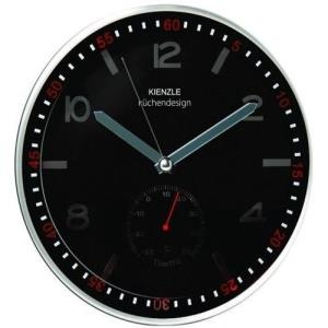 Relógio de Parede Silencioso Black 30 349/1004 30cm Preto - Kienzle