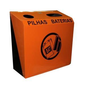 Suporte de Parede para Descarte de Pilhas e Baterias M5 - JSN