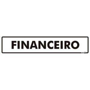 Placa Financeiro - 6,5x30  - Encartale