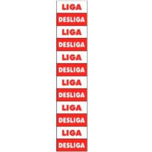 Placa Liga/Desliga 1,5x3,5 PS117 - Encartale
