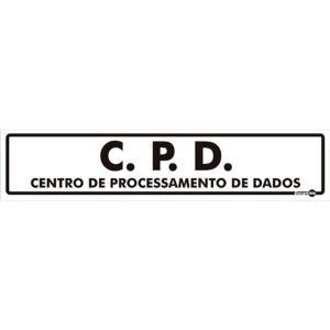 Placa CPD - Centro de Processamento de Dados - 6,5x30 PS210 - Encartale