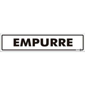 Placa Empurre 6,5x30 PS60 - Encartale