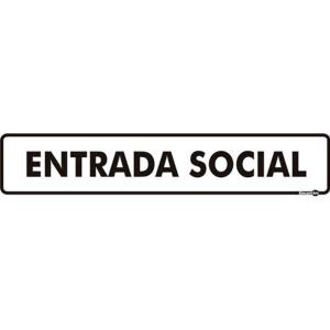 Placa Entrada Social 6,5x30 PS441 - Encartale