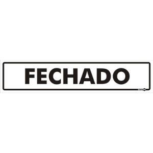 Placa Fechado 6,5x30 PS42 - Encartale