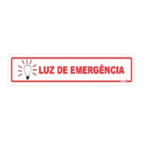 Placa Luz de Emergência 6,5x30 PS120 - Encartale