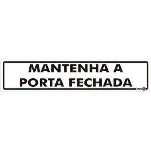 Placa Porta Fechada 6,5x30 PS45 - Encartale