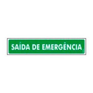 Placa Saída de Emergência 6,5x30 PS73 - Encartale