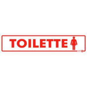 Placa de Sinalização Plástico 6,5x30cm Toilette Feminino PS109 - Encartale