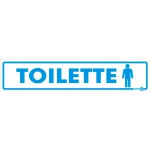 Placa Toilette Masculino 6,5x30 PS108 - Encartale