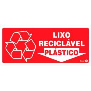 Placa Lixo Plástico 13x30 PS195 - Encartale