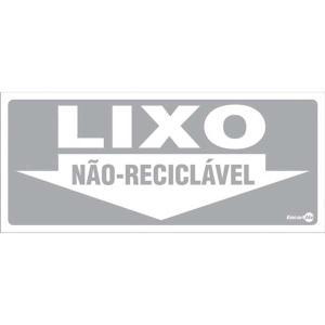 Placa Não Reciclável 13x30 PS192 - Encartale