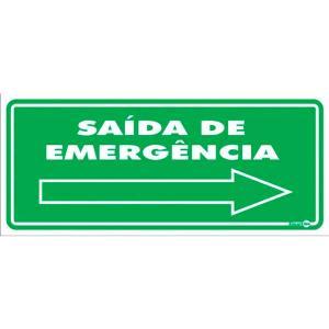 Placa Saída de Emergência 13x30 PS115 - Encartale