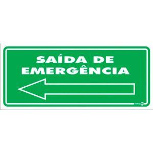 Placa Saída de Emergência 13x30 PS116 - Encartale