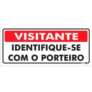 Placa Visitante 13x30 PS232 - Encartale