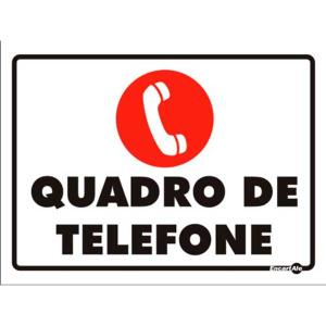 Placa Quadro de Telefone 15x20 PS99 - Encartale