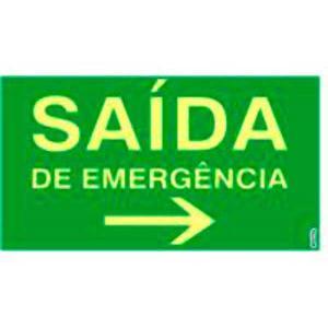 Placa Saída de Emergência à Direita 15x25 PS311F - Encartale