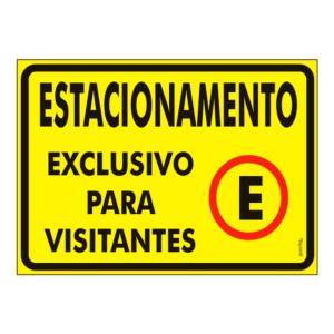 Placa Estacionamento Visitantes 20x30 PS413 - Encartale