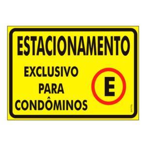 Placa Estacionamento Condôminos 20x30 PS412 - Encartale