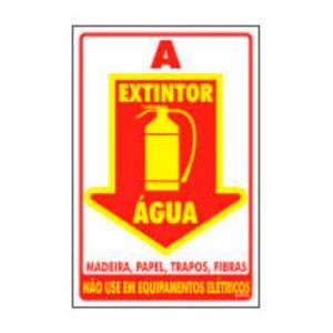 Placa Extintor Água 20x30 PS89 - Encartale