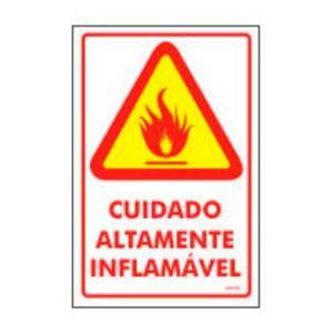 Placa Inflamável 20x30 PS17 - Encartale