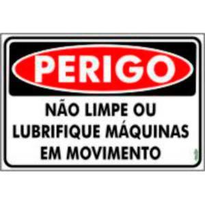 Placa Não Limpe as Máquinas em Movimento 20x30 PR5030 - Encartale