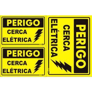 Placa Perigo Cerca Elétrica 20x30 PS166 - Encartale
