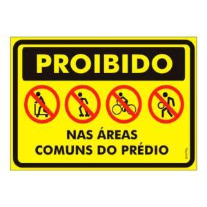 Placa Proibido Áreas Comuns 20x30 PS458 - Encartale