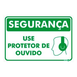 Placa Use Protetor de Ouvido 20x30 PR1012 - Encartale