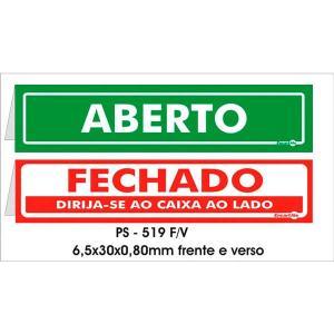 Placa Aberto/Fechado 6,5x30 PS519F - Encartale