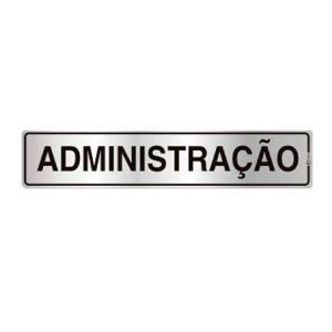 Placa de Sinalização para Administração em Alumínio 05x25cm C05001 - Indika