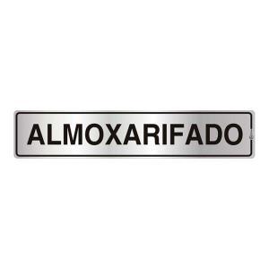 Placa de Sinalização para Almoxarifado em Alumínio 05x25cm C05044 - Indika