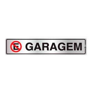 Placa de Sinalização para Garagem em Alumínio 05x25cm C05070 - Indika