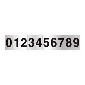 Placa de Sinalização em Numeral de 0 a 9 em Alumínio 05x25cm C05072 - Indika