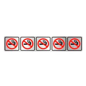 Placa de Sinalização Proibido Fumar em Alumínio 05x25cm C05077 - Indika