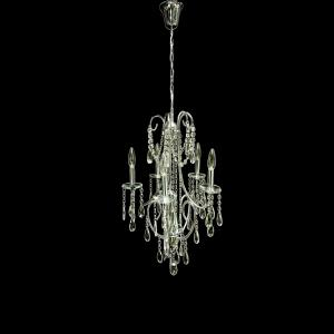 Lustre de Cristal 6059/5+1 - UNIK Iluminação