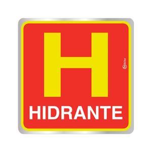 Placa de Sinalização para Hidrante em Alumínio 16x16cm C16017 - Indika