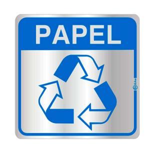 Placa de Sinalização Reciclagem Papel em Alumínio 16x16cm C16030 - Indika