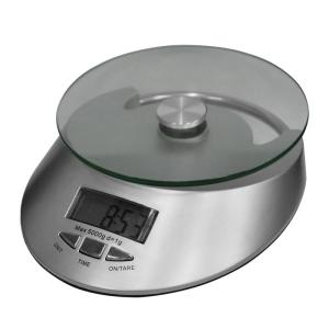 Balança Digital para Cozinha com Relógio KE-4 até 5 Kg - Ligação