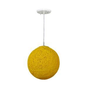 Pendente Art Line 03/1 20cm Amarelo - Condulai