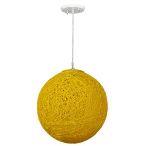 Pendente Art Line 04/1 28cm Amarelo - Condulai