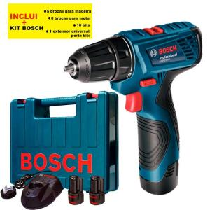 Furadeira e Parafusadeira GSR 120-LI Professional com Kit Bosch - Bosch