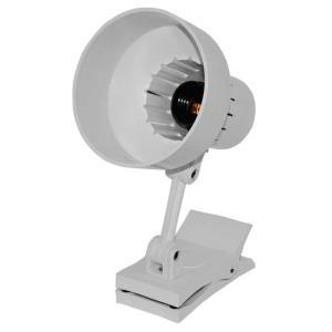 Luminária de Mesa Articulada com Garra 370 Branca - Ilutec