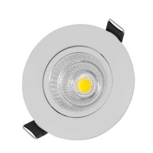 Spot de Embutir Direcionável de Led 3W Redondo Branco Morno - UNIK Iluminação