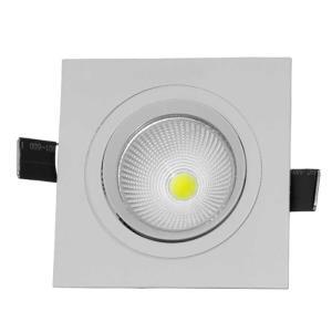 Spot de Embutir Direcionável de Led 3W Quadrado Branco Frio - UNIK Iluminação