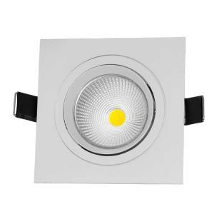 Spot de Embutir Direcionável de Led 3W Quadrado Branco Morno - UNIK Iluminação
