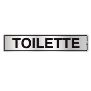 Placa de Sinalização Toilette em Alumínio 05x25cm C05069 - Indika